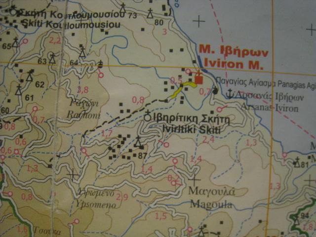 Road map Iviron