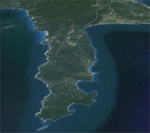 Akrotirio_arapis_google_earth