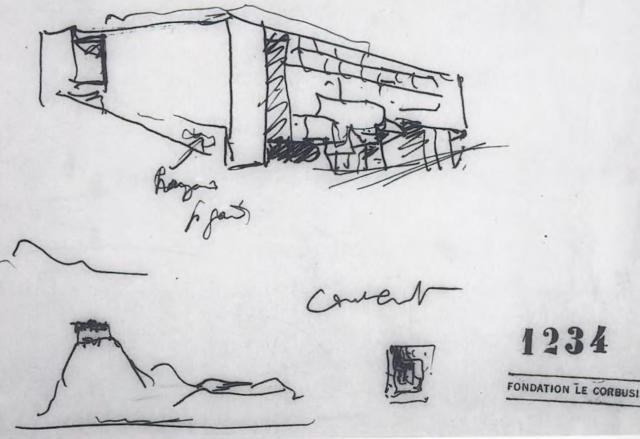 le corbusier 7 may 1954 Le couvant Athos