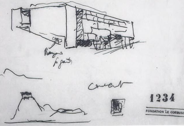 le corbusier 7 may 1954 Le couvant Athos
