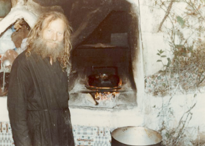 827 -  Father Stefan cooking 1982