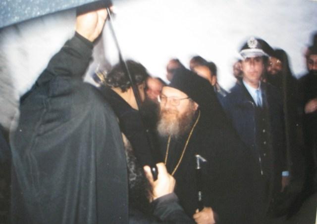 036 Vatopediou bezoek Venizelos minister Abbot