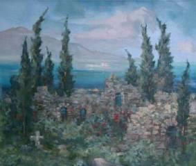 Tikhanovski_mountains_and_cypresse