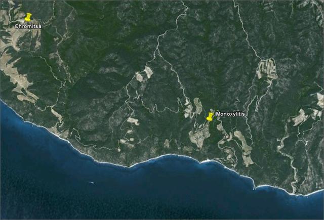 Monoxylites Google maps