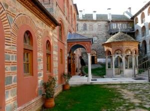 1067 - 2009 Trip to Athos: Filotheou exo-narthex part 1, day 2 - 4