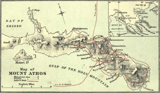 Athos map
