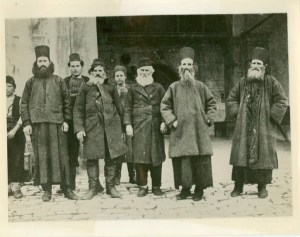 Russian monks Athos 1931