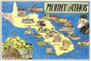 MountAthos ansichtkaart