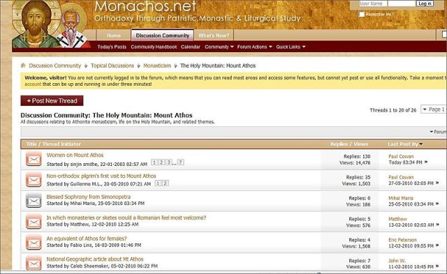 Monachos website forum