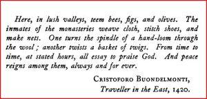 Cristoforo Buondelmonti quote