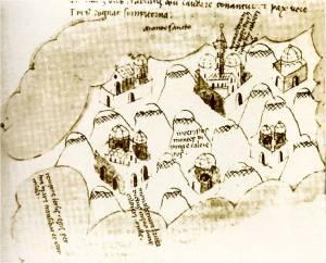 Christoforo Buondelmonti athos map