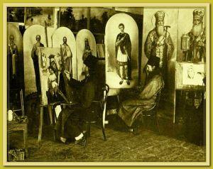 Panteleimon painting icons 1880 90