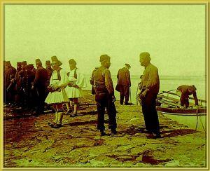 Panteleimon men on the pier