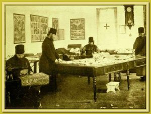 Panteleimon sewing vestments 1880 90