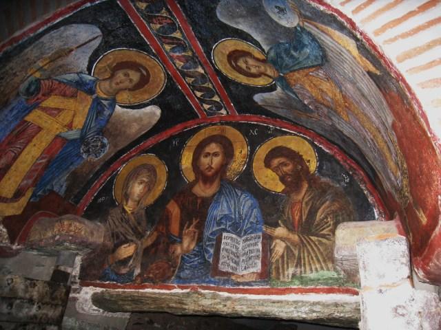 IMG_3534 Dionysiou fresco above the entrance