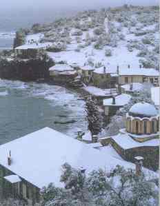 Athos winterfotos Vatopedi haven 4