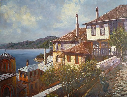 Laskaris Docheiariou painting