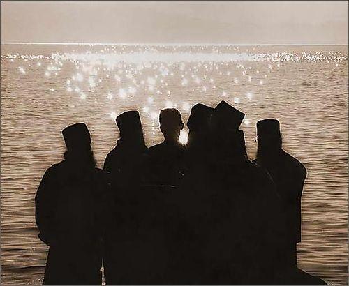 Group athos monks