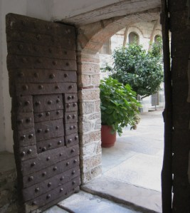 IMG_3579 Grigoriou doors to the first courtyard