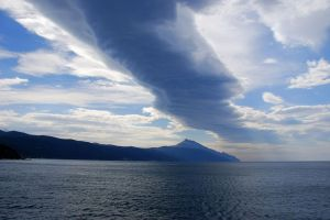 Cloud over athos