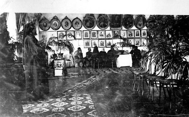 Athos 1914-18 Le général Sarrail et l'Amiral des Vignaux dans les bois du Mont Athos 4