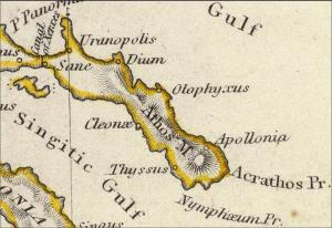 Map 1829 Ancient Greece London