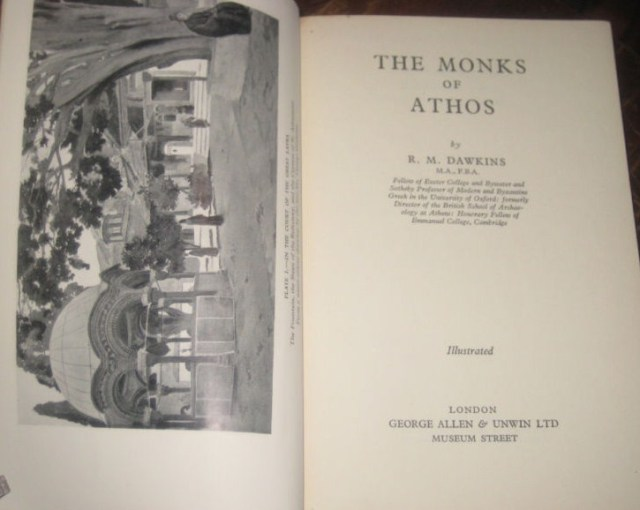 dawkins 1936 monks of athos 1