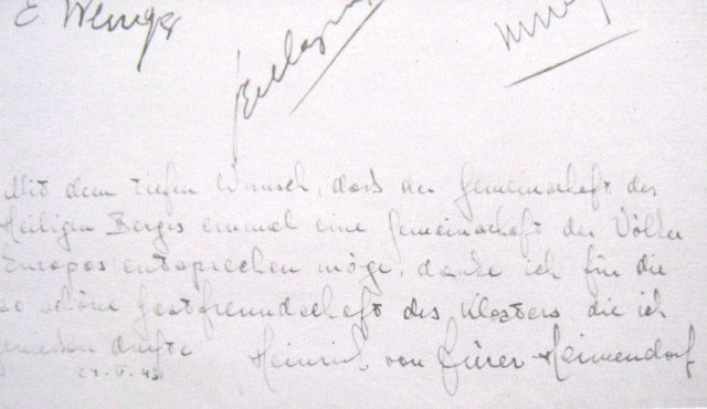 21 5 1943 German text from a guestbook
