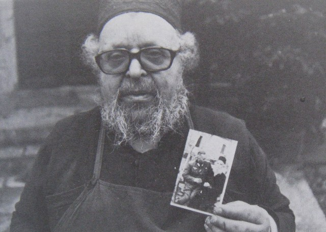 Father Panteleimon with picture 2nd WW