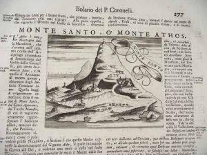 Oude afbeelding gravure Coronelli