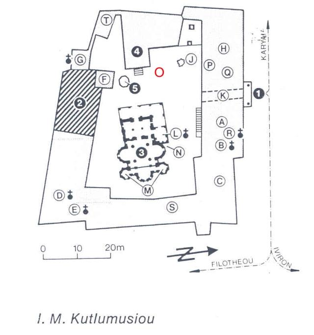 Koutloumousiou plattegrond phiale