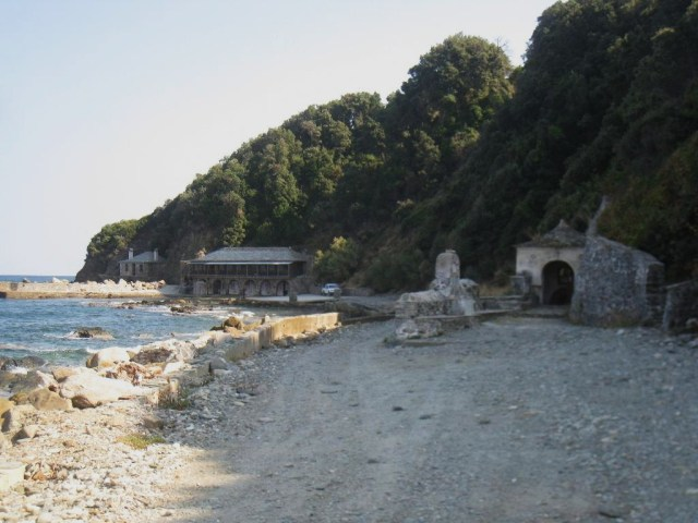 03-10 Iviron beach with Panaghia chapel
