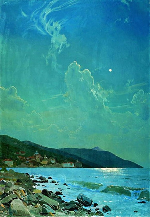 dmitri-belyukin-a-moonlit-night-on-athos-clouds-2006