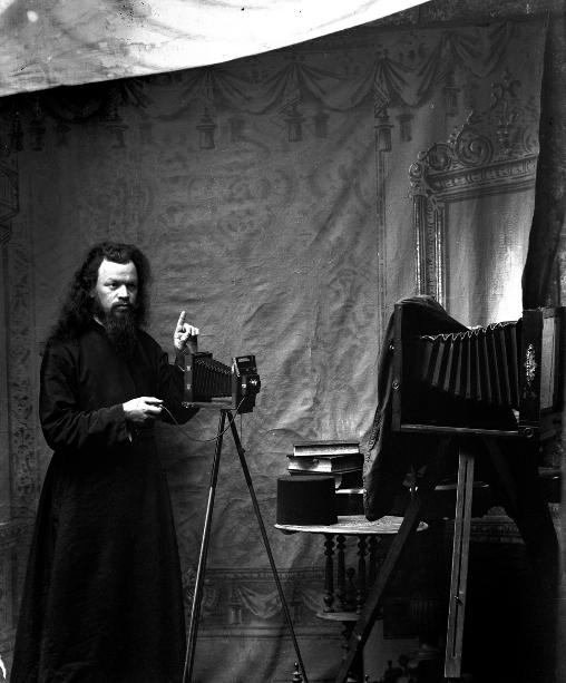 Russian monk photographer deacon Procopius in Karyes,  beginning 1900