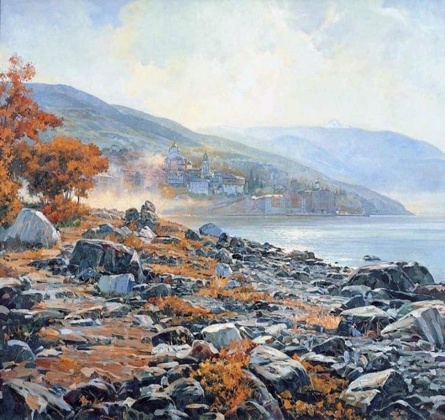 vasili-nesterenko-a-morning-on-mount-athos-1999
