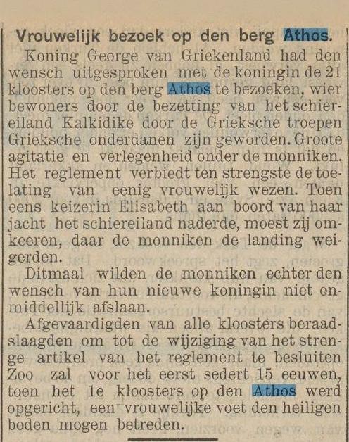 1913-02-01Nws vd Dag artikel bezoek koningin