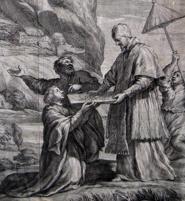 Pope Alexander VII Kupferstich François Spierre Pietro da Cortona 1666 - 2