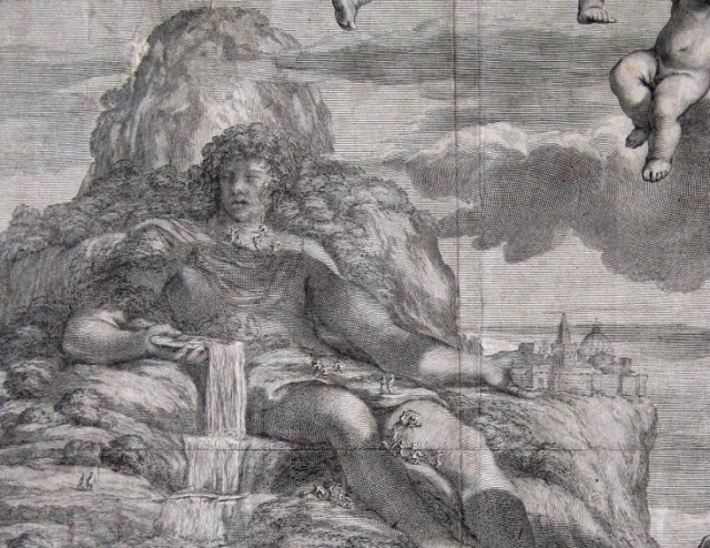 Pope Alexander VII Kupferstich François Spierre Pietro da Cortona 1666 - 3