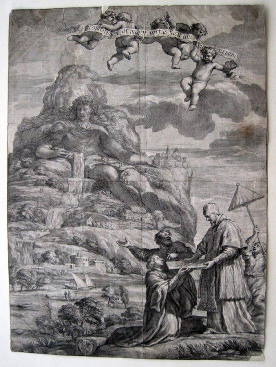 Pope Alexander VII Kupferstich François Spierre Pietro da Cortona 1666