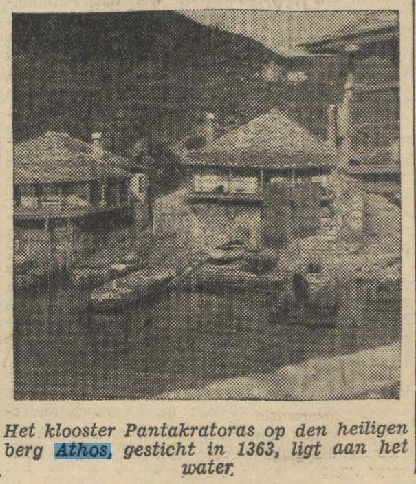 1934 24-08-1934 De Tijd foto Pantocratoros
