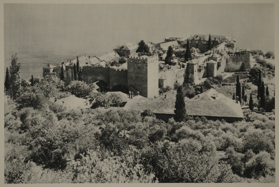 1334 - old Athos postcards of all monasteries (2/6)