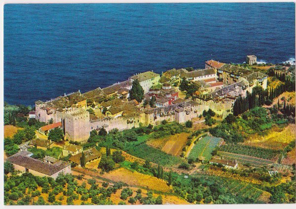 1334 - old Athos postcards of all monasteries (3/6)