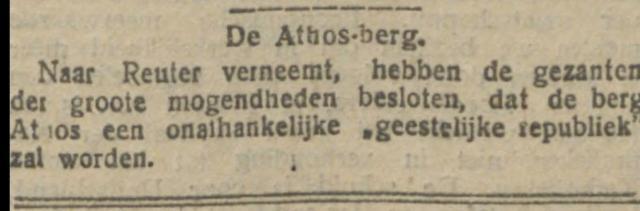 1913-01-21 De Tijd artikel