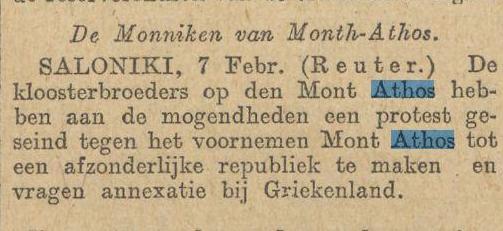 1913-02-08 Handelsblad artikel
