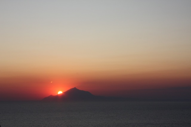 Athos seen from Lemnos