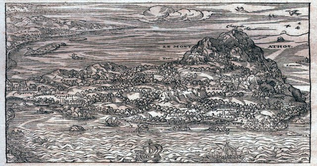 map athos French etching