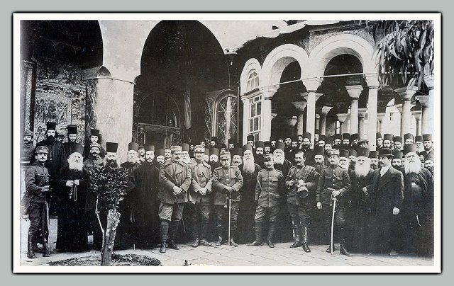 old picture military monks Vatopedi