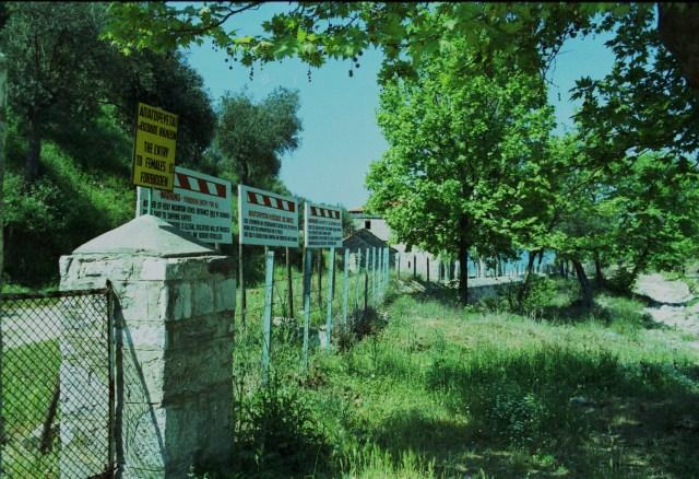 004 Ouranopolis - de grens naar Athos