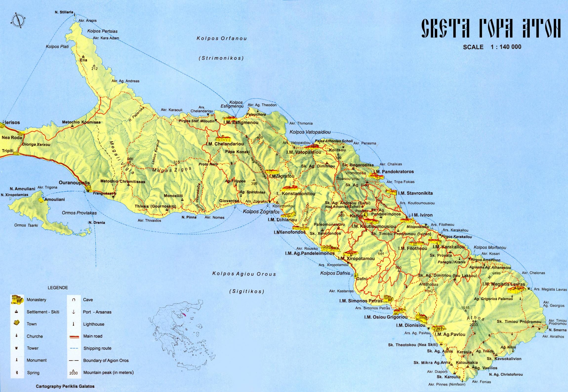 athos map