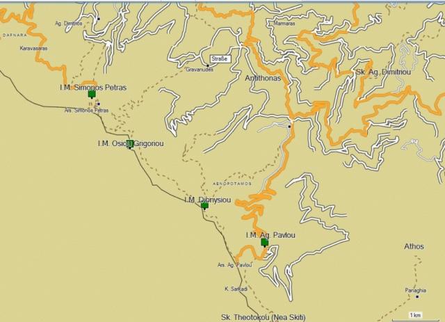 Athos online map Garmin